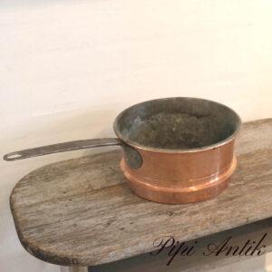 41 Kobber kasserolle Ø28xH14,5cm