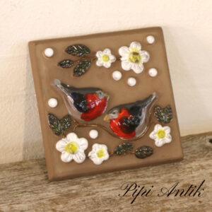 45 DECO 701B keramikbillede fugle L15,5xH15,5x1,5cm