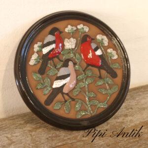 47 Gabriel keramik billede Ø29xH2,5cm