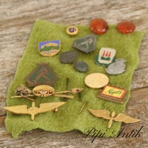 Emplemer pins flyvere nogle fra 1942 FRS etc