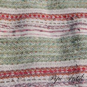 69 Kludetæppe Oliven Hvid Rød B88xL200 cm