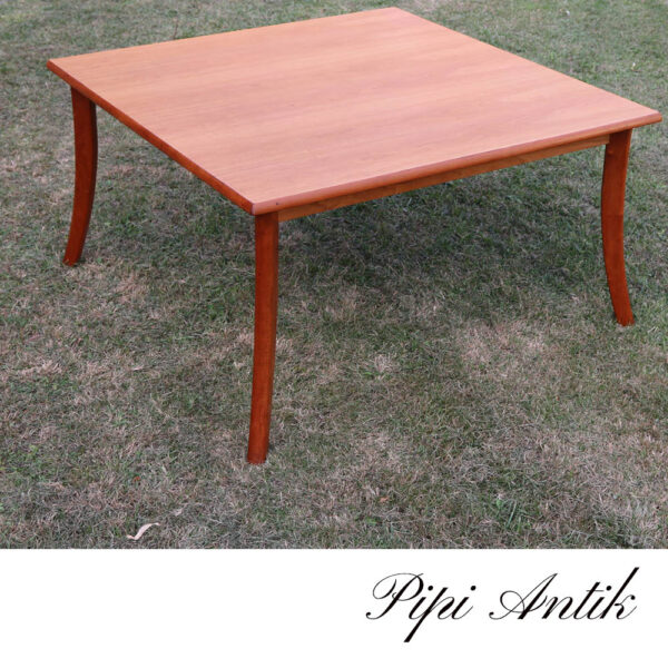 Teak look sofabord nyere L95xB95xH51cm
