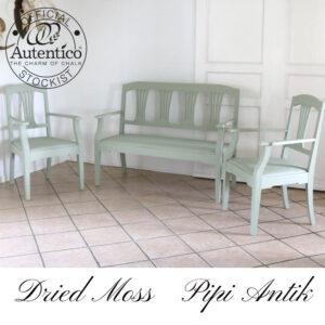 Udestuemøbler verandamøbler i romantisk look Dried Moss Autentico L129xD53xH101 sædet 45 cm