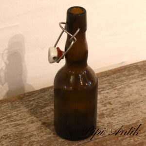 Brune patent ølflasker retro Ø6,5xH23,5cm