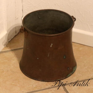 Kobberspand patineret Ø22,5xH23cm